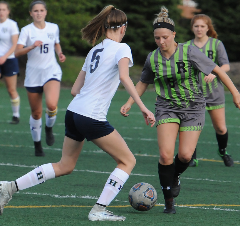 . The Rochester Falcons defeated the Farmington Falcons 2-0 in the OAA Crossover match played on Tuesday May 15, 2018 at Farmington High School.  (Oakland Press photo by Ken Swart)