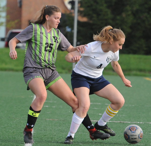 The Rochester Falcons defeated the Farmington Falcons 2-0 in the OAA Crossover match played on Tuesday May 15, 2018 at Farmington High School.  (Oakland Press photo by Ken Swart)