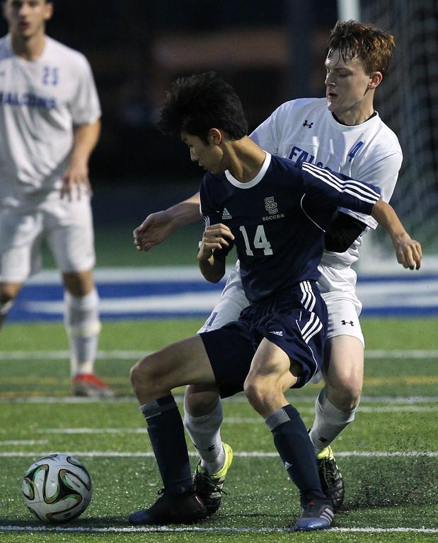 . Rochester dominates cross town rival Rochester Stoney Creek for a 3-0 win in front of the home crowd Tuesday, Sept. 19, 2017. (For The Oakland Press / LARRY McKEE)
