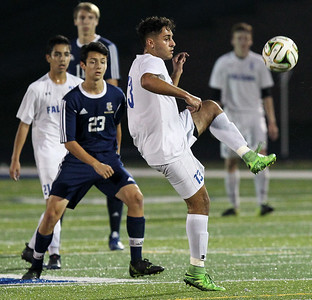 Rochester dominates cross town rival Rochester Stoney Creek for a 3-0 win in front of the home crowd Tuesday, Sept. 19, 2017. (For The Oakland Press / LARRY McKEE)