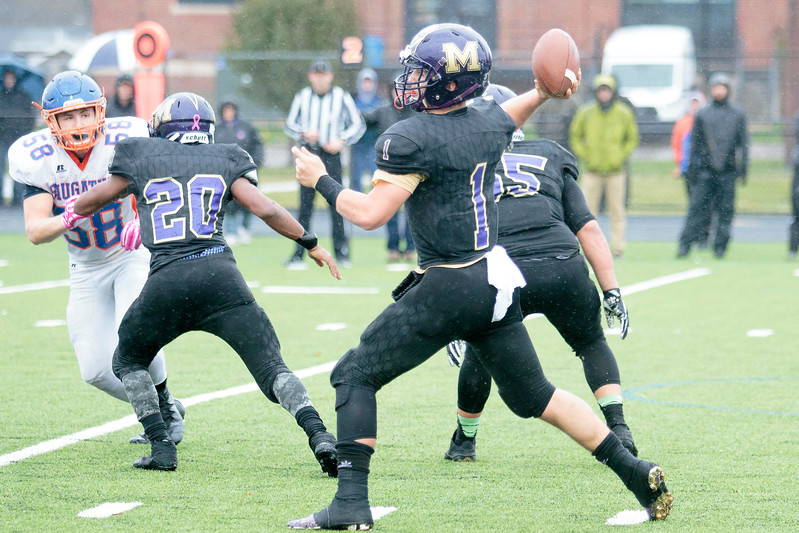Madison Heights' dream season came to an abrupt end Saturday afternoon in the Division 7 semi-finals as the Eagles fell to Saugatuck 14-7. (MIPrepZone photo by Timothy Arrick)