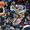 The Southfield A&T Warriors were defeated in the MHSAA Class A State semi-final game by East Kentwood 55-51.  The game was played on Friday March 17, 2017 at The Breslin Center in East Lansing.  (MIPrepZone photo by Ken Swart)