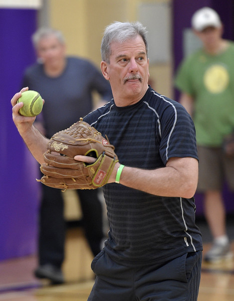 Seniors get ready for the summer softball season at the Rochester Older Persons Commission on March 26, 2018. (Digital First Media Gallery by David Dalton)