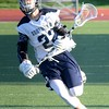 Bloomfield Hills rallied in the fourth quarter to pick up an 8-7 win over South Lyon Unified in boys lacrosse on Thursday night. (MIPrepZone photo by Drew Ellis)