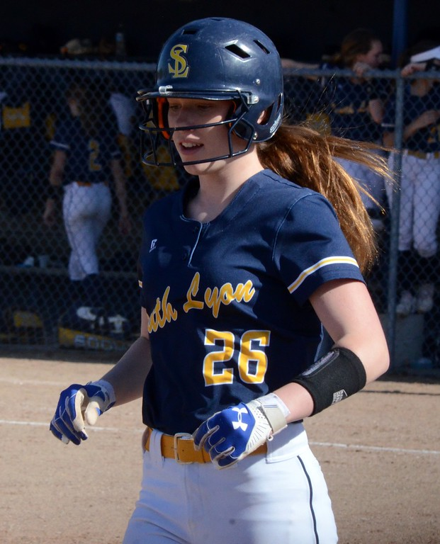 . The South Lyon softball team earned a pair of wins over Walled Lake Central on Monday to stay unbeaten in the Lakes Valley Conference. (Oakland Press photo gallery by Drew Ellis)