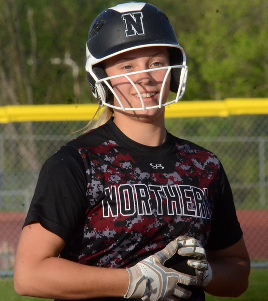 The South Lyon and Walled Lake Northern softball teams split a pair of 6-3 games on Wednesday at South Lyon High School. (Oakland Press photo gallery by Drew Ellis)