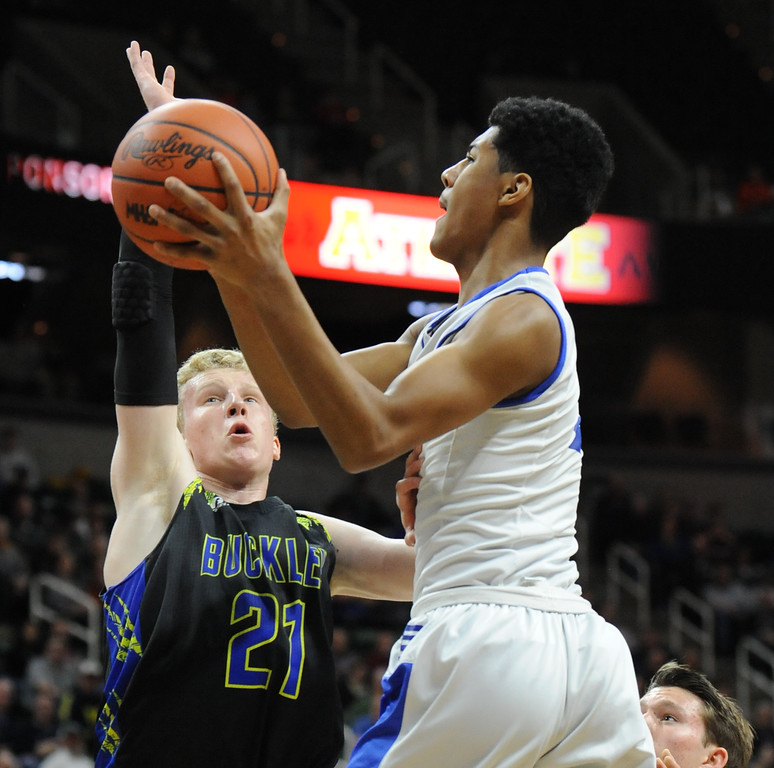 . The Southfield Christian Eagles defeated the Buckley Bears 64-54 to win the MHSAA Class D State Title.  The game was played on Saturday March 24, 2018 at The Breslin Center in East Lansing.  (Oakland Press photo by Ken Swart)