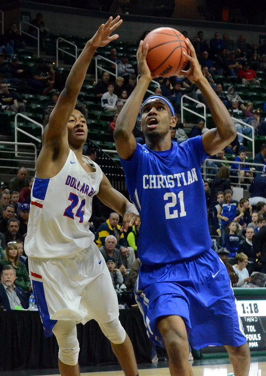 . Southfield Christian won its Class D semifinal against Dollar Bay on Thursday at the Breslin Center, 71-32, to advance to Saturday\'s championship game. (Oakland Press photo gallery by Drew Ellis)