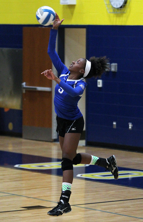 . Southfield Christian falls to Fowler 3-0 in Class D quarterfinal volleyball action at Goodrich High School Tuesday, Nov. 14, 2017. (For The Oakland Press / LARRY McKEE)
