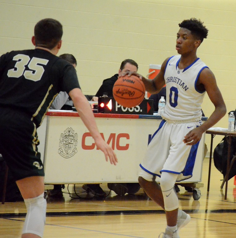 . Southfield Christian earned a 79-50 win over Oakland Christian in the Class D regional semifinal at Marine City Cardinal Mooney Monday night. (Oakland Press photo gallery by Drew Ellis)