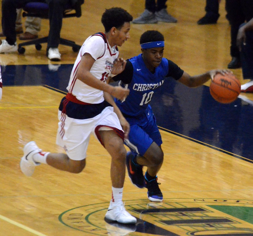 . Southfield Christian opened the 2017-18 boys basketball season with a 75-48 win at Southfield A&T on Tuesday. (Oakland Press photo gallery by Drew Ellis)