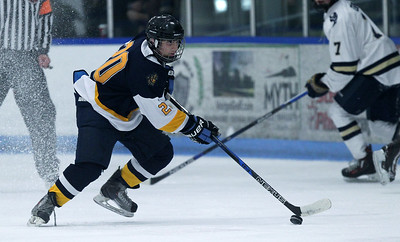 Clarkston defeated Rochester Stoney Creek 4-2 in varsity hockey action at the Onyx Ice Arena Friday, Jan. 4, 2019. (For The Oakland Press / LARRY McKEE)