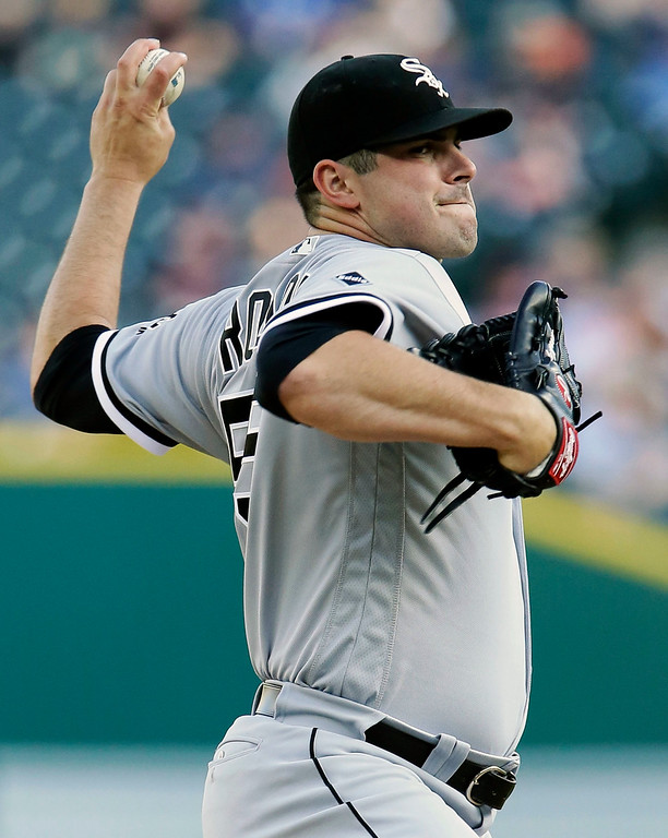. Chicago White Sox\'s Carlos Rodon pitches against the Detroit Tigers during the first inning of a baseball game Friday, June 3, 2016, in Detroit. (AP Photo/Duane Burleson)
