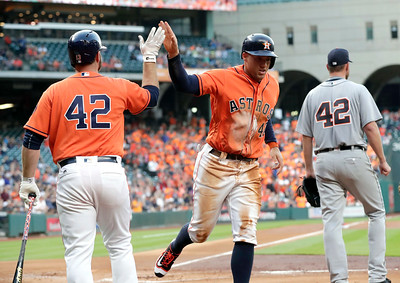 CORRECTION Tigers Astros Baseball