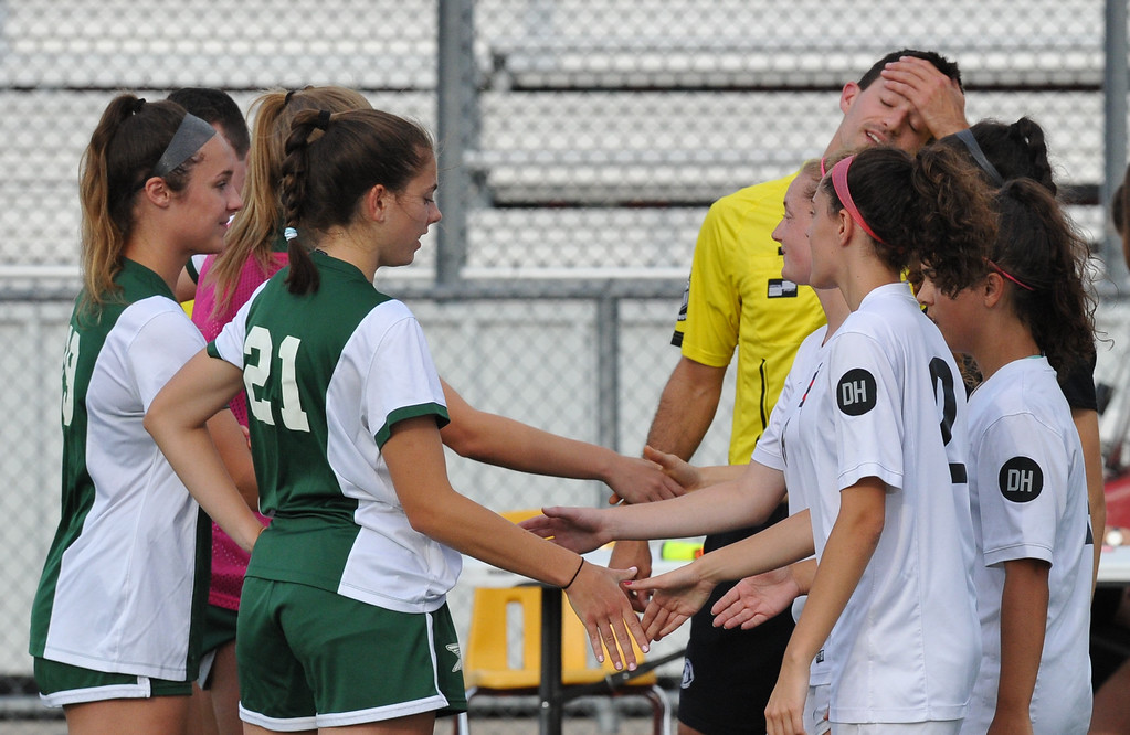 . The Troy Colts defeated Grosse Pointe North 5-0 to win the MHSAA D1 Regional played on Thursday June 7, 2018 at Troy Athens HS.  The Colts will play Novi in next Tuesday\'s Semi-final match at Stoney Creek HS.  (Oakland Press photo by Ken Swart)