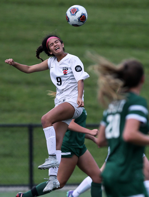 . Novi dominates Troy throughout defeating the Colts 4-1 in Division 1 semifinal soccer action at Rochester Stoney Creek High School Tuesday, June 12, 2018. (For The Oakland Press / LARRY McKEE)