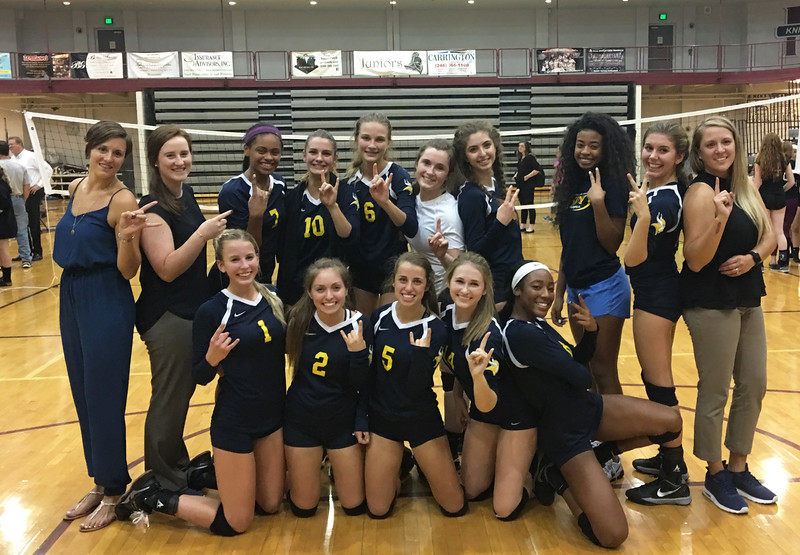 Walled Lake Central wins the 5th set with a thrilling 16-14 victory over Walled Lake Northern to clinch their second consecutive KLAA North Division volleyball title on Thursday, October 6 2016 at Northern. MIPrepZone photo by Chris Wall)