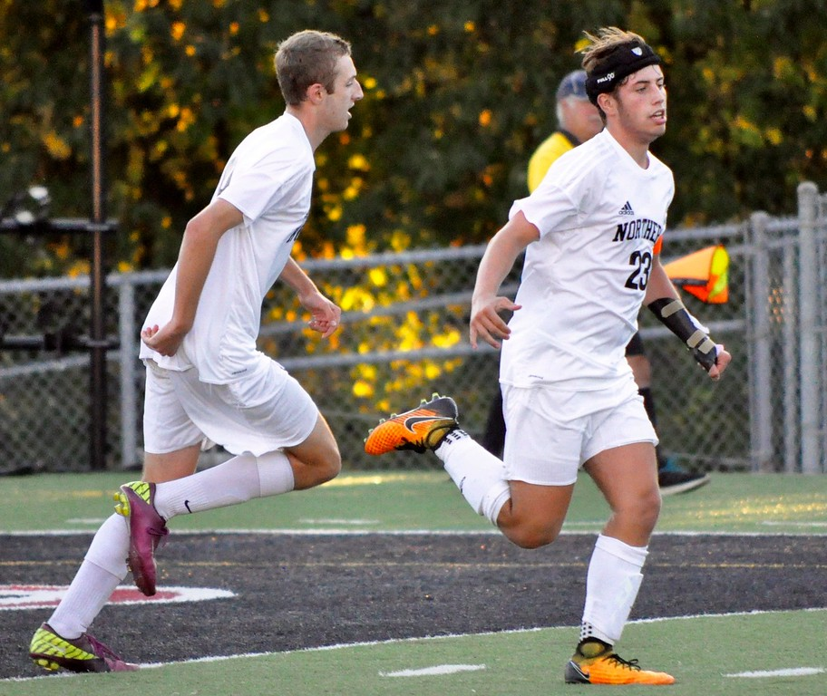 . Walled Lake Northern defeated Walled Lake Western 6-1 in a Lakes Valley Conference soccer game on Wednesday, Sep. 20, 2017. (Photo gallery by Dan Fenner/The Oakland Press)