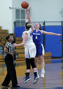 Walled Lake Western defeated Waterford Mott 64-40 in varsity basketball action at Waterford Mott High School Tuesday, Jan 8, 2019. (For The Oakland Press / LARRY McKEE)