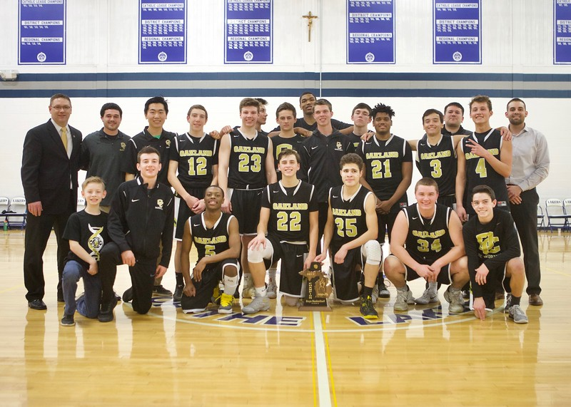 Oakland Christian  defeated Waterford Our Lady of the Lakes 55-37 for the District championship.  (MIPrepZone photo by Tom Tomich)