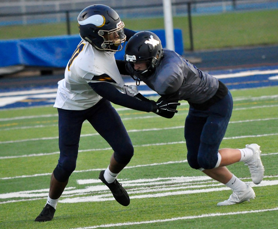 . Waterford Mott hosted Walled Lake Central for a Lakes Valley Conference football game on Friday, Sep. 8, 2017. (Photo gallery by Dan Fenner/The Oakland Press)