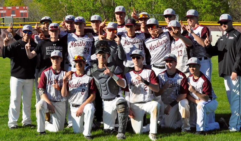Walled Lake Northern hosted Lakeland for a KLAA North Division baseball game on Thursday, May 11, 2017. (MIPrepZone photo gallery by Dan Fenner)