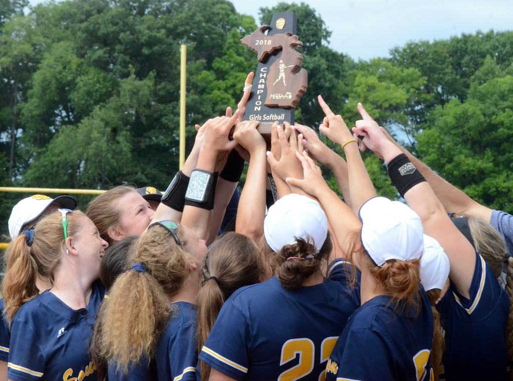 . The South Lyon softball team won the Division 1 district tournament at Walled Lake Western on Saturday, defeating Northville in the final 5-1. Walled Lake Western and Novi also competed in the 4-team tournament. (Oakland Press photo gallery by Drew Ellis)
