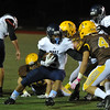 The Waterford Mott Corsairs defeated the Rochester Adams Highlanders 28-21 in the MHSAA D1 pre-district game played on Friday October 28, 2016 at Adams HS.  (MIPrepZone photo by Ken Swart)