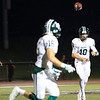 Dragon QB Jack Cornell (10) floats a pass out to Maxwell Horneffer as Lake Orion tries to mount a 2nd half comeback against West Bloomfield Friday night. It wouldn't be enough however as the Dragons would fall to the Lakers 37-7.  (MIPrepZone photo by Timothy Arrick)