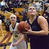 Bloomfield Hills' Amanda Sape (right) is a first-team All-Oakland County selection for 2016-17. (MIPrepZone file photo)
