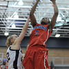 Kierra Fletcher (3) of Cousino puts up a shot during the atch between Cousino and Mercy on March 14, 2017.(MIPrepZone photo gallery by David Dalton)
