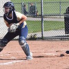 Paced by Paige Blevins, who was 6-for-8 with a home run in the twinbill, Clarkston pounded out 29 runs on 34 hits in a sweep of a short-handed Stoney Creek squad on Thursday, May 11, 2017. (MIPrepZone photo by Matthew B. Mowery)