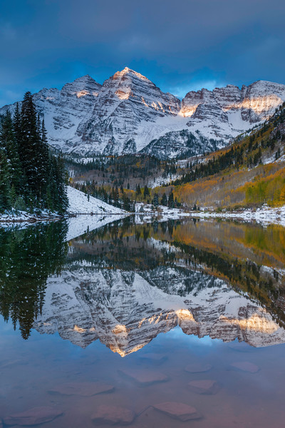 First Snow at Maroon Lake
