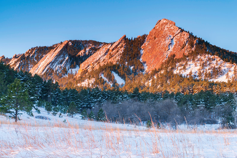 Fresh Snow on the Flatirons