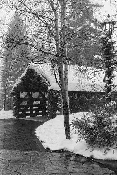 Covered Bridge Snowstorm