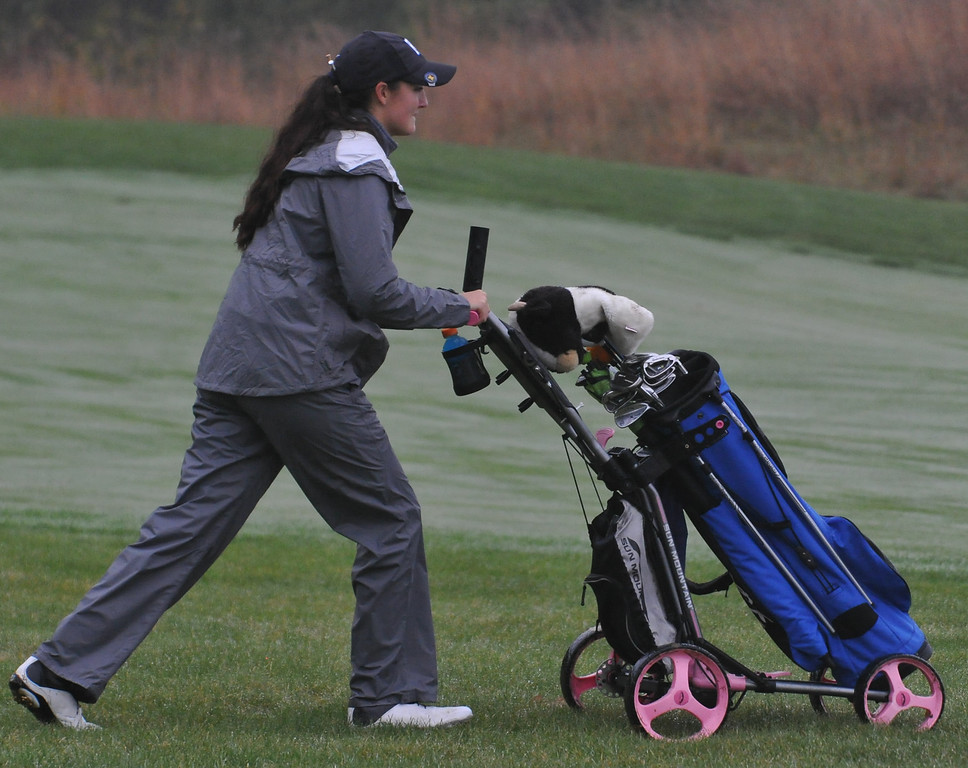 . The Stoney Creek Cougars won the D1 Regional played at Twin Lakes Golf and Swim Club on Thursday October 12, 2017.  Rochester placed 2nd and Utica Eisenhower finished in third.  All three teams move on to the state finals next weekend.  (Digital First Media photo by Ken Swart)