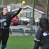 Softball action from the 4 team round robin held at Birmingham Groves HS on Saturday April 22, 2017.  Groves, Birmingham Seaholm, Bloomfield Hills, and Warren Woods Tower competed.  (MIPrepZone photo by Ken Swart)