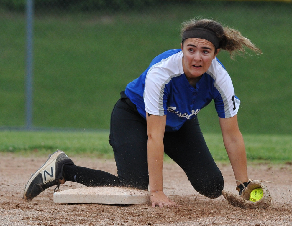 . The Stoney Creek Cougars won their first district title with a 2-1 win over Rochester Adams in the MHSAA D1 district played at Stoney Creek HS on Saturday June 2, 2018.  The Cougars defeated Utica Eisenhower 8-1 in the semis and Adams beat Romeo 5-4 in the other semi final.  (Digital First Media photo by Ken Swart)