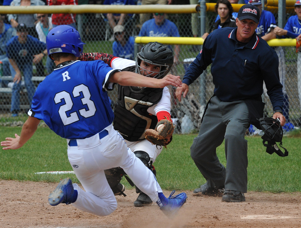 . Utica Eisenhower captured the MHSAA D1 baseball district played at Stoney Creek HS on Saturday June 2, 2018.  The Eagles defeated Stoney Creek 3-0 in the semi-final and Rochester 9-2 in the final.  Rochester defeated Romeo 5-3 in the other semi-final.  (Digital First Media photo by Ken Swart)
