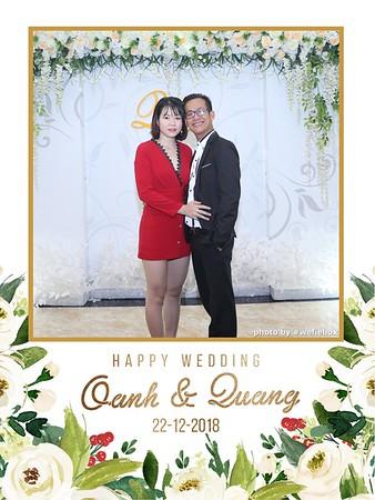 Oanh & Quang Wedding Instant Print Photobooth - Chụp ảnh in hình lấy liền Tiệc cưới - WefieBox Photobooth Vietnam