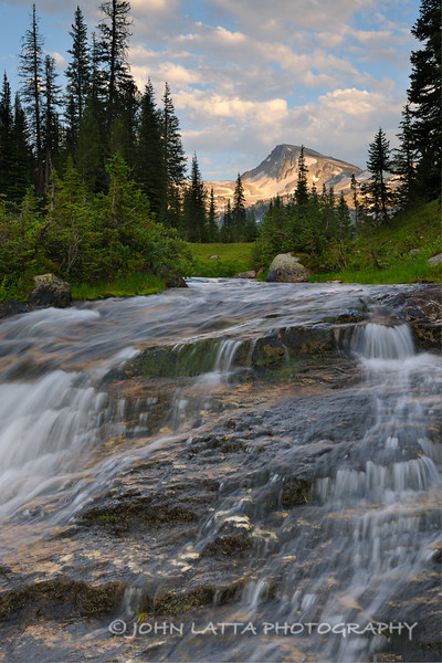 Eagle Cap and Waterfall