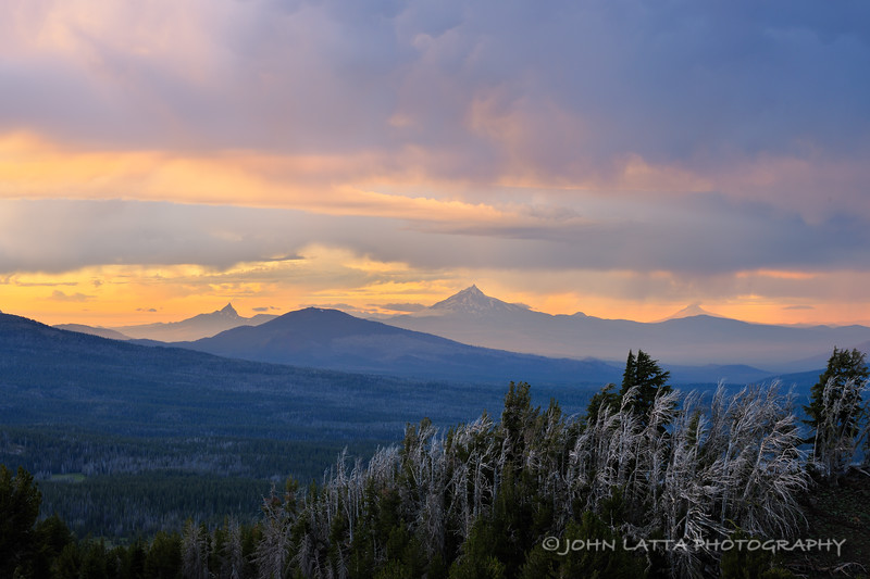 Three Fingered Jack, Mount Jefferson and Mount Hood
