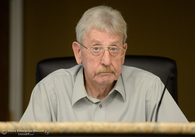 Oroville City Counselor Jack Berry listens while members of the Oroville Recreation Advisory Committee ORAC talk with DWR representatives during the 196th meeting of the group at the Oroville City Council Chambers in Oroville, Calif. Friday July 21, 2017. Following the meeting agenda schedule the group discussed tourism and recreation, lake conditions and projections, recreational projects status and voted on a request to delay the FERC license. (Bill Husa -- Enterprise-Record)