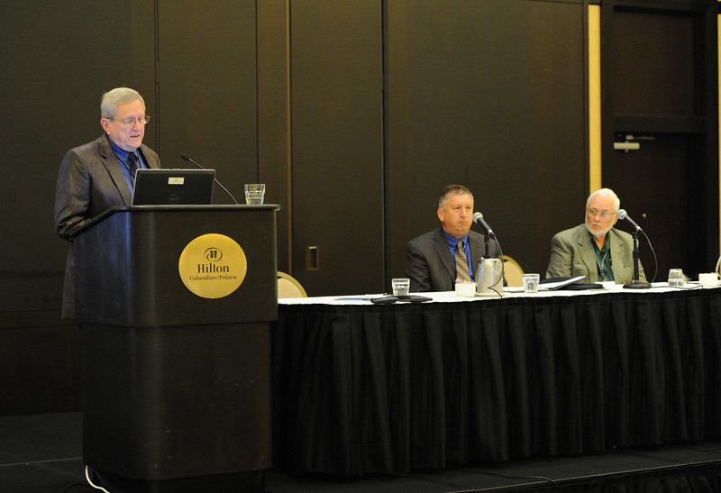 Ohio Rural Electric Cooperatives<br /> Annual Meeting<br /> August 11, 2015<br /> Gary Hobson (NRECA Executive Search Consultant), Todd Ware (Energy Co-op) and Dave Miller (Washington EC)