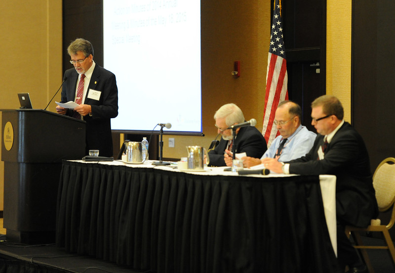 Ohio Rural Electric Cooperatives<br /> Annual Meeting<br /> August 11, 2015<br /> OREC Chair George Brake, Sec/Treas Jack Schmidt, Jack Kitchel (Darke REC) and Counsel Kurt Helfrich