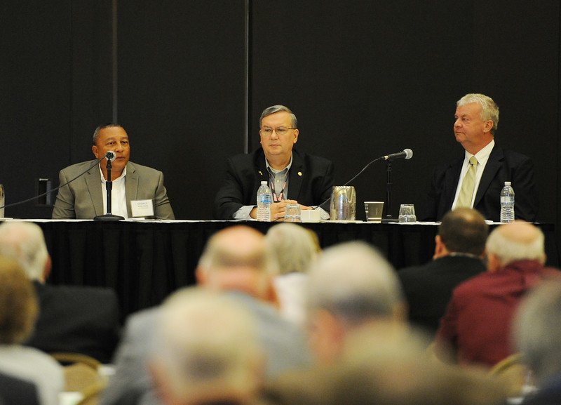 Ohio Rural Electric Cooperatives<br /> Annual Meeting<br /> August 11, 2015<br /> George Walton (Hancock-Wood), Markus Bryant (Lorain-Medina and North Central) and Glenn Miller (Holmes-Wayne)