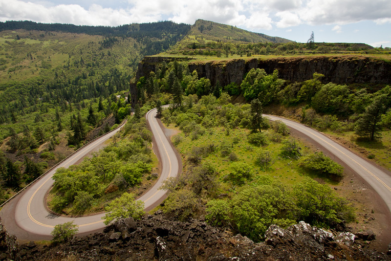 Rowena Crest switchbacks, Columbia River
