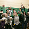 Oakmont Regional High School presented the schools Special Olympics National Banner during the school's Pep Rally on Wednesday, Nov. 27, 2019. Students reach for things thrown into the stands as they waited to pep rally to begin. SENTINEL & ENTERPRISE/JOHN LOVE