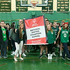 Oakmont Regional High School presented the schools Special Olympics National Banner during the school's Pep Rally on Wednesday, Nov. 27, 2019. SENTINEL & ENTERPRISE/JOHN LOVE