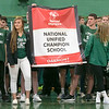 Oakmont Regional High School presented the schools Special Olympics National Banner during the school's Pep Rally on Wednesday, Nov. 27, 2019. The Banner.SENTINEL & ENTERPRISE/JOHN LOVE